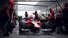 Timo Glock had a difficult day on track for Marussia, after the car spontaneously parted company with the front wing.