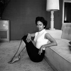 Actress Dorothy Dandridge relaxing on her living room floor, 1950's. #MyPinisBlack