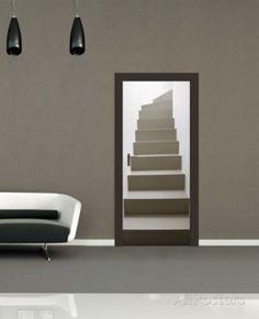 Turning Staircase Door Papier peint Mural Papier peint sur AllPosters.fr