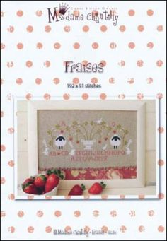 """From Madame Chantilly is this cross stitch pattern titled """"Fraises"""" that features two sheep, a few rabbits, and a couple of doves are enjoyi..."""