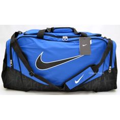 5760e7fe5a Juli s new gym bag!  ) Nike Brasilia 5 Blue and Black Large Duffel Bag