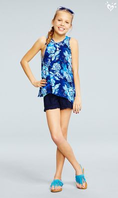 Pair our so-now Ellie tank with head-to-toe accessories that pop with color and style.