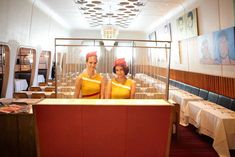 Costumed Attendants: For a Catch Me if You Can screening in New York in 2011, Stella Artois transformed the restaurant Casa Lever into a 1960s airport lounge. The hostess stand was remade as the departure gate counter, where guests could check their tickets against a seating chart.
