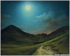 Buttermere by Moonlight ~ Anne Sudworth