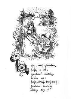 Mikoláš Aleš: Hajej můj zlatoušku http://www.herbia.cz/products-page/pohlednice/umelecke/page/7/