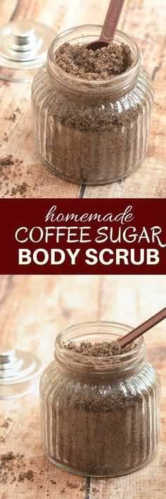 Homemade Coffee Sugar Body Scrub is a luxurious body treat for smooth, silky and invigorated skin! Only three all-natural ingredients!