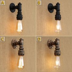 49.45$  Watch now - http://ali40j.shopchina.info/1/go.php?t=32811889828 - Wall lamps Light Luminaire Lampe Industrial style iron art loft vintage water pipe bar shop wall lamp  #buyininternet