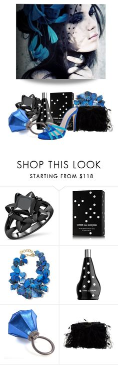 """""""Sad but beautiful #2."""" by babysnail ❤ liked on Polyvore featuring Comme des Garçons, NEST Jewelry, HOMANZ, Dsquared2, Charles David, dsquared2, nest, CharlesDavid, commedegarcons and Homanz"""