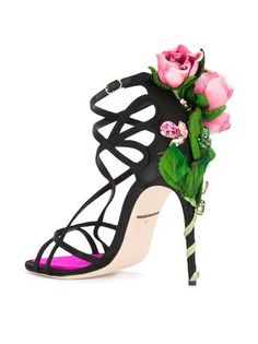 Shop online Dolce & Gabbana Keira sandals today with fast global shipping and free returns. Dream Shoes, Crazy Shoes, Cute Shoes, Me Too Shoes, Stiletto Heels, High Heels, Black Stilettos, Fairy Shoes, Sexy Sandals