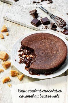 La recette du cœur coulant chocolat et caramel au beurre salé #cusineactuelle #chocolat #caramel