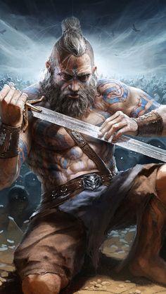 Video Game Art, Barbarian, Master Chief, Wilderness, Sword, Vikings, Cool Art, Game Of Thrones Characters, Batman