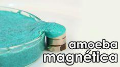 Amoeba magnética (como fazer geleca magnética) (experiência)