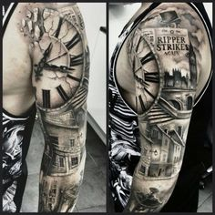 Biomechanical, fantasy, bicep tattoo on TattooChief.com