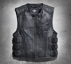 Men's Swat II Leather Vest.  Nice to put my patches and pins.