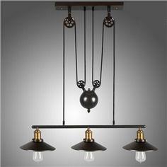 ペンダントライト 天井照明 アメリカスタイル照明 レトロな照明器具 創意照明 3灯