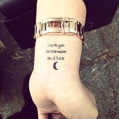 """Love you to the moon and back"" #quote #quotes #typographic #typography #tattify #tats #tattoo #tattoos #temptat #accessory #love #beauty #cool #cute #e#fashion #farmersmarket #girl #girls #hipster #hollywood #ink #inked #la #melrose #retro #skin #style #skinart #vintage $5"