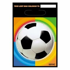 Football party loot bags http://www.wfdenny.co.uk/p/football-loot-bags/3363/
