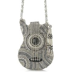 This guitar shaped bag dazzles as you take on the dance floor, drawing the whole crowd in for a closer Mary Frances Handbags, Guitar Bag, The Good Witch, Boutique Shop, Ukulele, Bag Sale, Straw Bag, Tassels, Purses