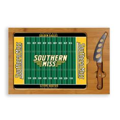 When you want a little pizazz at the party include the simple yet elegant Southern Miss Golden Eagles Icon cutting board and serving tray.  Serving one winning football field!