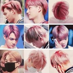 Kai with pink hair #EXO