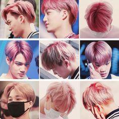 Kai with pink hair #EXO