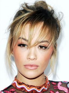 Got a round face, thinking about a fringe but not sure? Rita's long, wispy fringe is a great way to dip your toe in