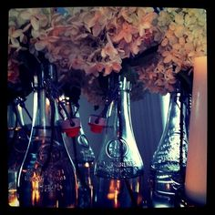 Sky Blue Events :: Bespoke Event Design + Corporate Concierge Services + Soiree Styling + Weddings - Home - Ideas & Inspirations :: Recycled Glass BottleVases
