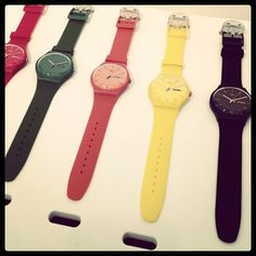 Sporty, bright unisex watches from Swatch's spring collection. #Fashion #Spring2012 #Accesories