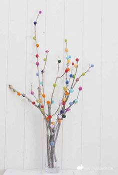 A Pom-Pom Branch Bouquet