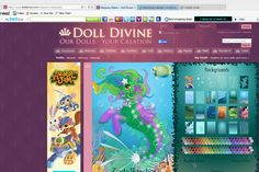 Doll Divine Website. The perfect place to create fast fantastic characters. Here is my Merpony x