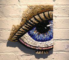 Mosaic eye...street art ~ Smalti Sister 017 ~ by grayraven, via Flickr