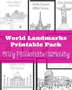 World Landmarks Printable Pack -