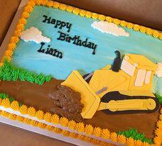 Bulldozer cake #constructioncakes #sheetcakesdonthavetobeboring #sheetcakes