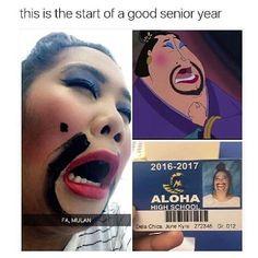 Fa, Mulan LOL More memes, funny videos and pics on Disney Jokes, Funny Disney Memes, Stupid Funny Memes, Funny Relatable Memes, Funny Posts, Disney Pixar, Funny Stuff, 9gag Funny, Funny Girl Memes