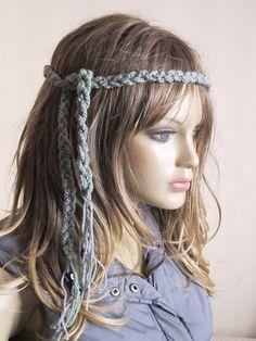 Crochet Headband Boho bohemian Headband Hippie by selenayy on Etsy