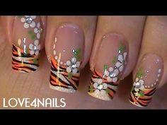 Summer ƸӜƷ Tiger Swag Nails she create nails Nail Art Designs, Nail Art Design Gallery, Long Nail Designs, Creative Nail Designs, Beautiful Nail Designs, Creative Nails, Tiger Nail Art, Tiger Nails, Neon Nail Art