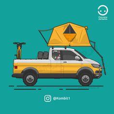 KombiT1: VW T6 Camper House 4x4 PickUp