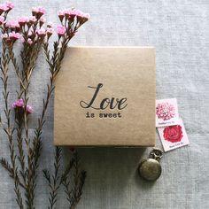Love is Sweet Letterpress Kraft Favor Box by We Heart Paper Etsy Shop