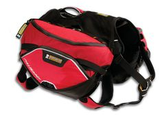 Ruffwear Palisades Pack, with detachable saddle bags to expose durable harness and carry strap.