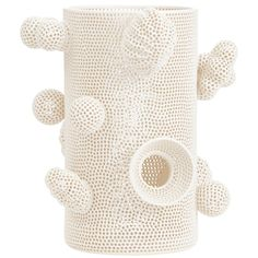 Tony Marsh Perforated Cylinder with Attachments   From a unique collection of antique and modern decorative objects at https://www.1stdibs.com/furniture/more-furniture-collectibles/decorative-objects/
