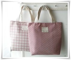 efbb78426348 Small mini tote in sweet pink polkadot and by KawaiiSakuraHandmade