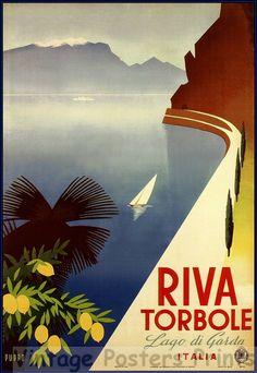 Vintage Riva Torbole Travel Poster