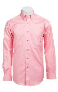 Ariat Mens L/S Solid Pink Shirt 10000527 | Cavender's $50