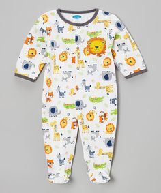 Gray Baby Animal Snuggle 'N' Play Footie - Infant