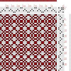 Hand Weaving Draft: 10 sur 10, Planche A, No. 18, P. Falcot: Traité Encyclopedique et Méthodique de la Fabrication Des Tissus, 4S, 4T - Hand...
