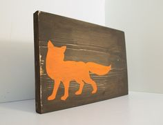 Fox wood sign Fox home decor rustic wall by RusticBabyBoutique