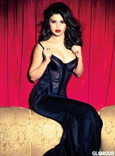Selena Gomez struck a sultry pose in a Bottega Veneta gown for Glamour magazine.