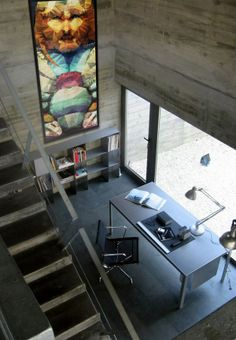 Image 11 of 18 from gallery of House in Perbes / Vier Arquitectos. Courtesy of Vier Arquitectos Viria, Cabana, Home Deco, Home Office, Architecture Résidentielle, Box Houses, Workspace Design, Modern Staircase, Built Environment