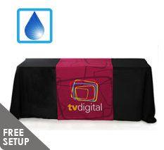 30 inch x 60 inch Liquid Repellent Full Color Table Runner