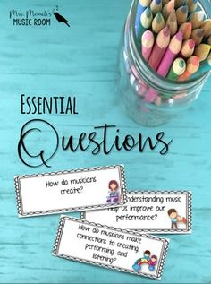 Are you wanting to delve into essential questions in your music classroom but need guidance on where to start? Try this NCCAS-aligned set!